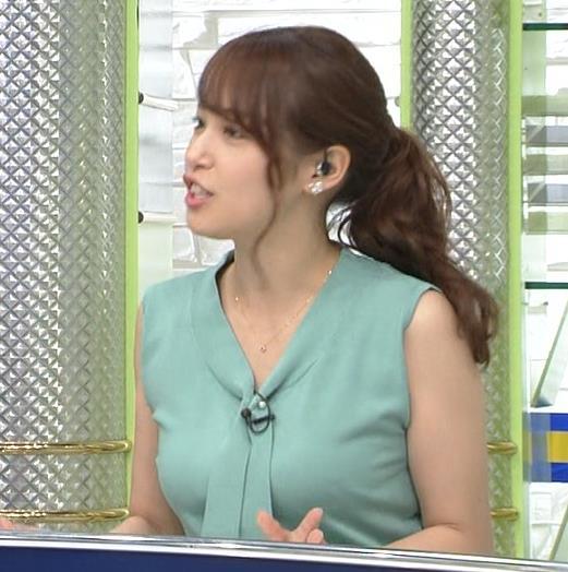 鷲見玲奈アナ ムチムチノースリーブキャプ・エロ画像5