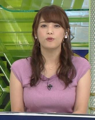 鷲見玲奈アナ 極上のニット乳キャプ・エロ画像3