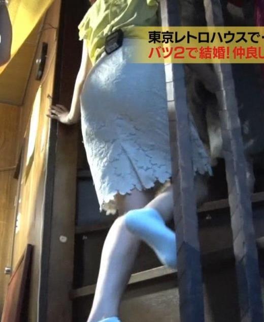 鷲見玲奈 花柄タイトめなスカートのお尻キャプ画像(エロ・アイコラ画像)