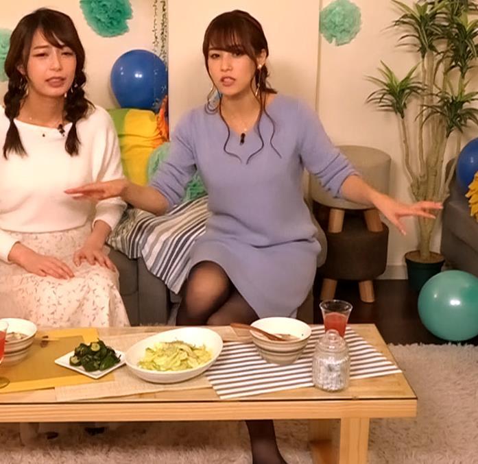 鷲見玲奈アナ セクシー黒ストッキング▼ゾーンキャプ・エロ画像5