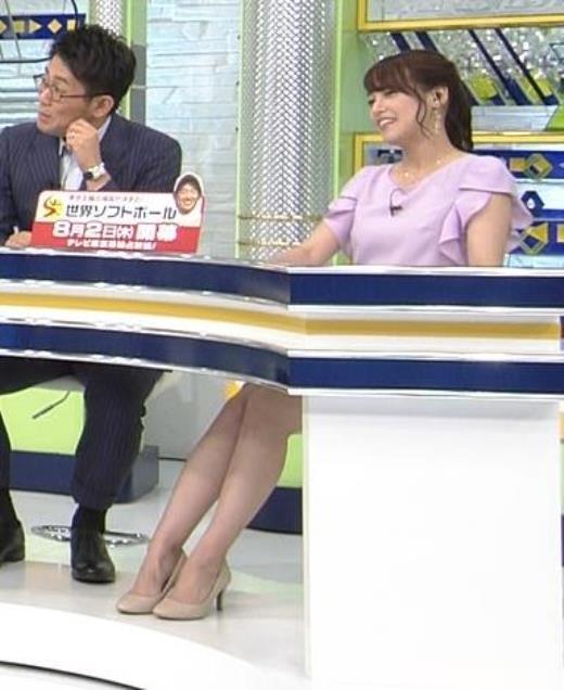 鷲見玲奈アナ ふくらはぎキャプ画像(エロ・アイコラ画像)