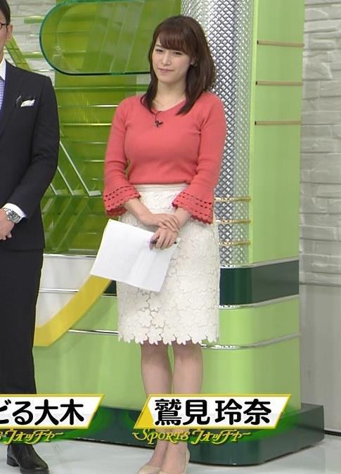 鷲見玲奈アナ やっぱりすげぇデカ乳キャプ・エロ画像2