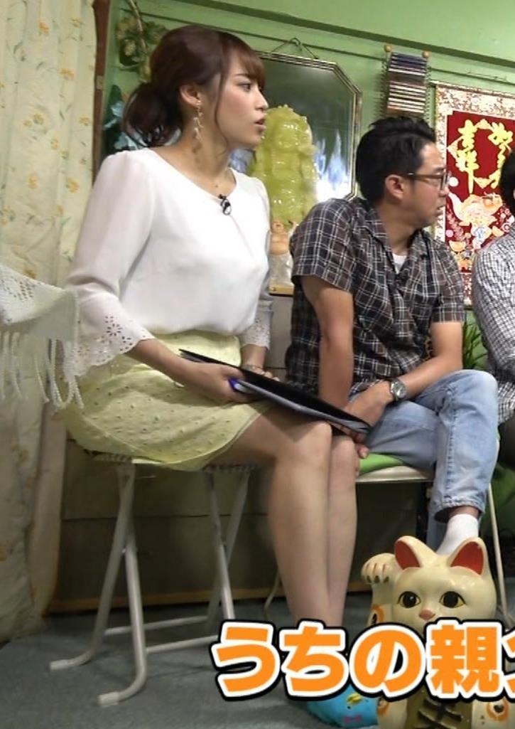 鷲見玲奈アナ 変な靴下を履いてるキャプ・エロ画像5