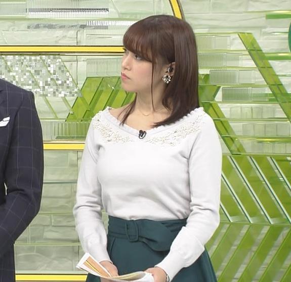 鷲見玲奈アナ 安定のニットおっぱいキャプ・エロ画像6