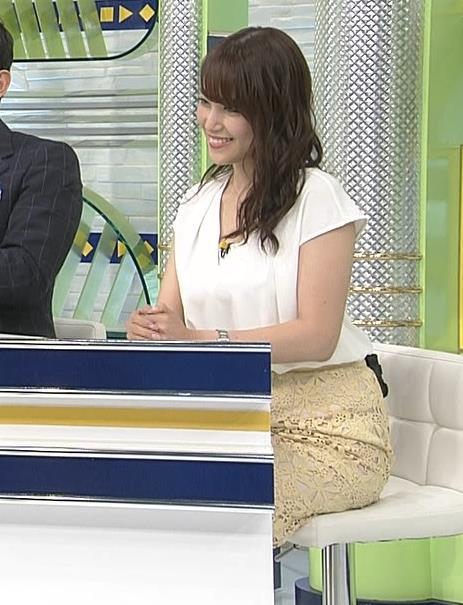 鷲見玲奈アナ お尻も大きそうでエロいキャプ・エロ画像5