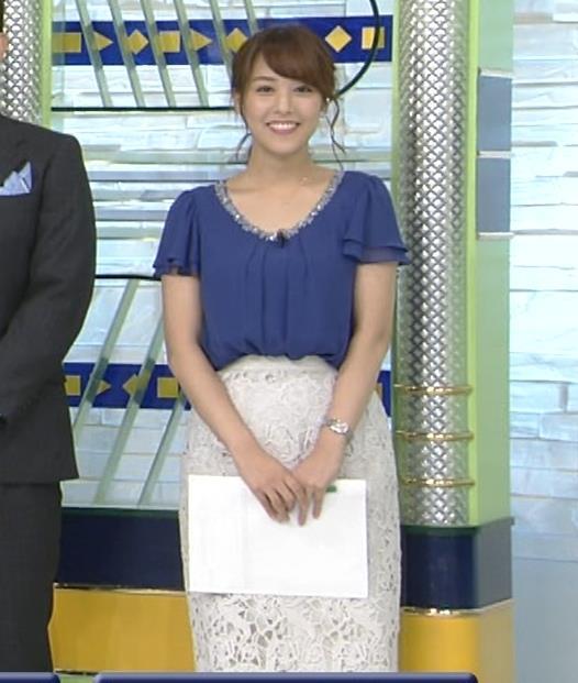 鷲見玲奈アナ 胸元が開いた服でお辞儀キャプ・エロ画像7