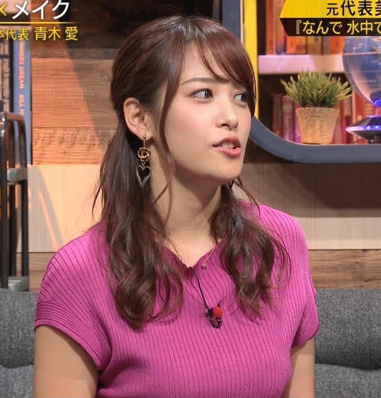 鷲見玲奈アナ 巨乳ニットキャプ・エロ画像7