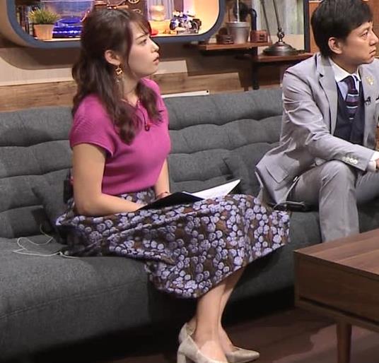 鷲見玲奈アナ 巨乳ニットキャプ・エロ画像8