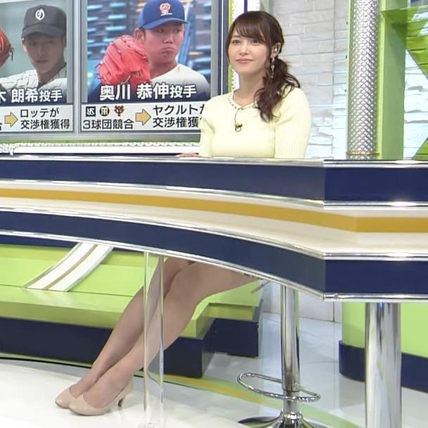 鷲見玲奈アナ 久しぶりのミニスカ脚エロキャプ・エロ画像6
