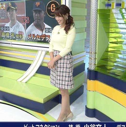 鷲見玲奈アナ 久しぶりのミニスカ脚エロキャプ・エロ画像9
