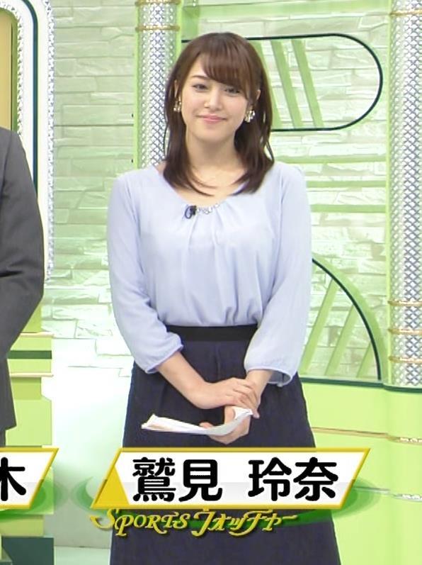 鷲見玲奈アナ 生足エッロ…キャプ・エロ画像4