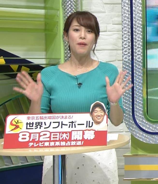 鷲見玲奈アナ いつにもましてデカい乳キャプ・エロ画像2
