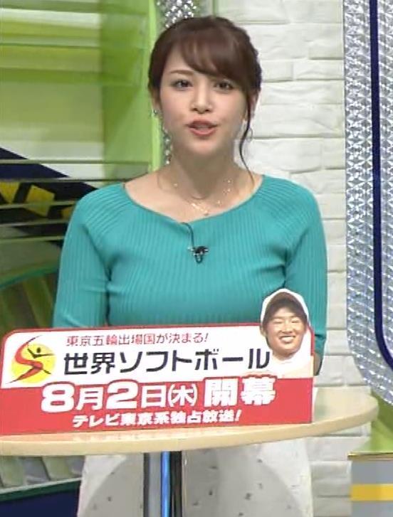 鷲見玲奈アナ いつにもましてデカい乳キャプ・エロ画像4