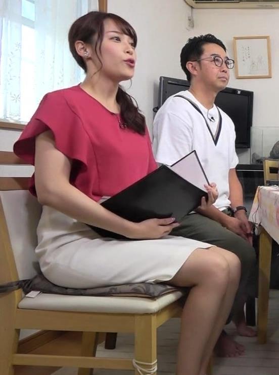 鷲見玲奈アナ スカート横尻キャプ・エロ画像3
