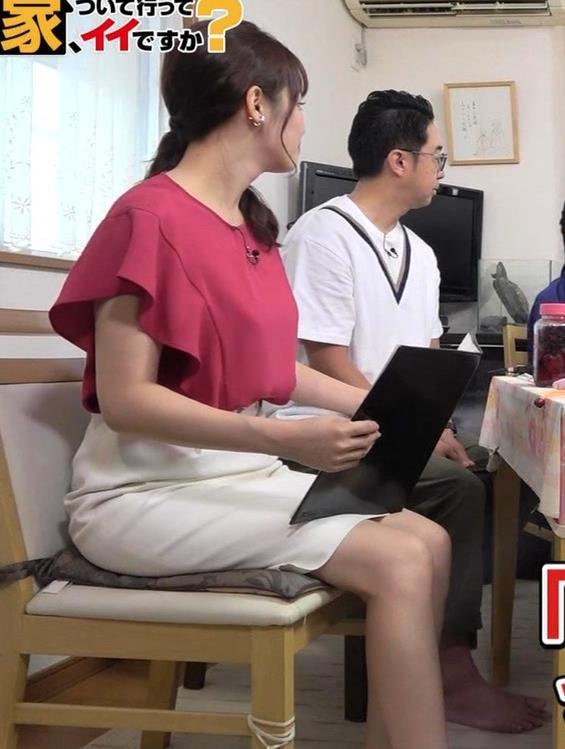 鷲見玲奈アナ スカート横尻キャプ・エロ画像4