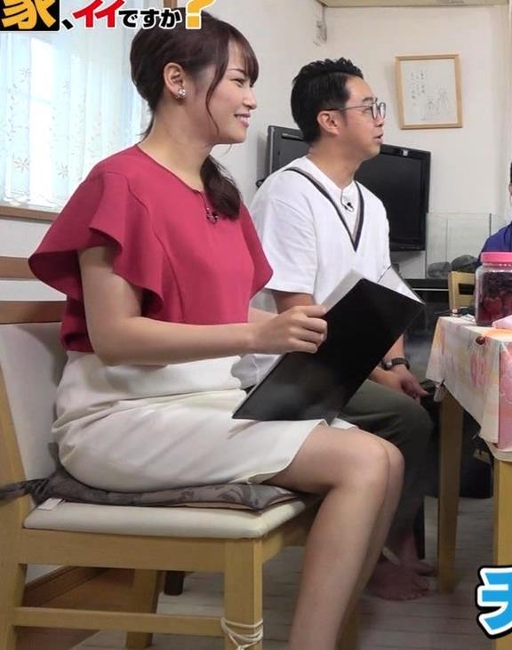 鷲見玲奈アナ スカート横尻キャプ・エロ画像6