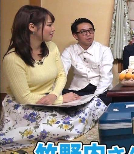 アナ 黄色いニットの乳キャプ・エロ画像4