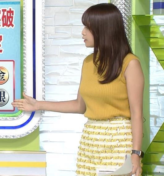 鷲見玲奈アナ 安定のノースリーブ横乳キャプ・エロ画像4