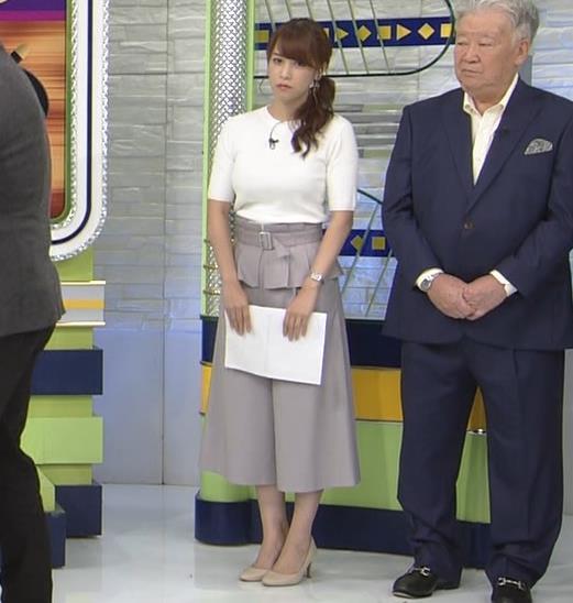 鷲見玲奈アナ 横乳で再確認するデカさキャプ・エロ画像2