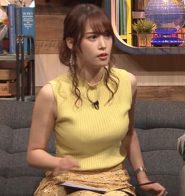 鷲見玲奈アナ 安定のエロ衣装キャプ・エロ画像5