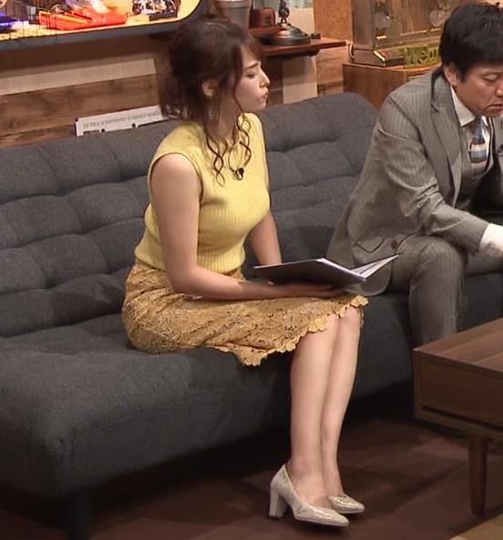 鷲見玲奈アナ 安定のエロ衣装キャプ・エロ画像6