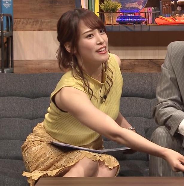 鷲見玲奈アナ 安定のエロ衣装キャプ・エロ画像7