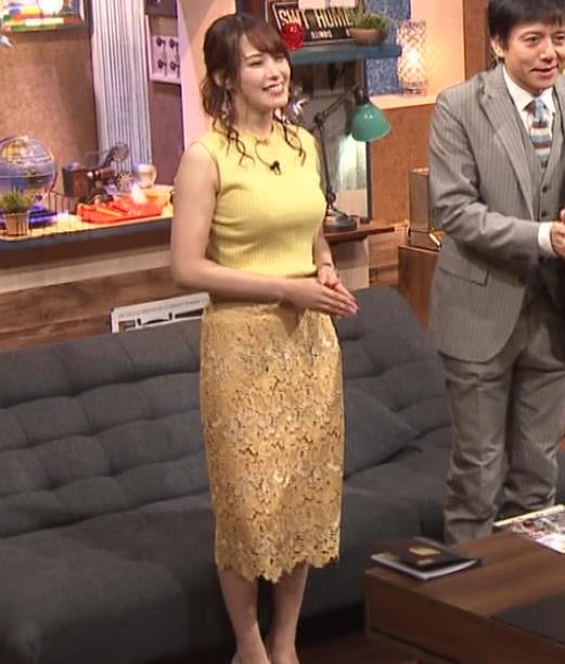 鷲見玲奈アナ 安定のエロ衣装キャプ・エロ画像8