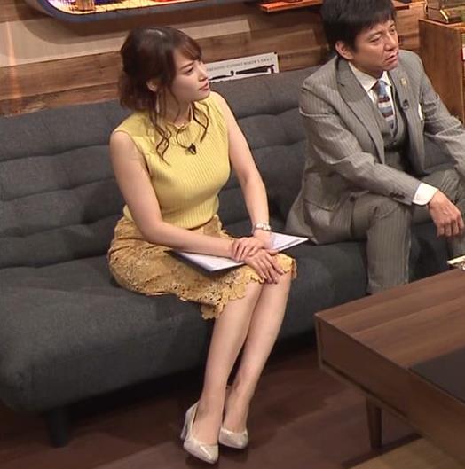 鷲見玲奈アナ 安定のエロ衣装キャプ・エロ画像9