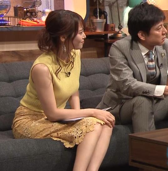 鷲見玲奈アナ 安定のエロ衣装キャプ・エロ画像10