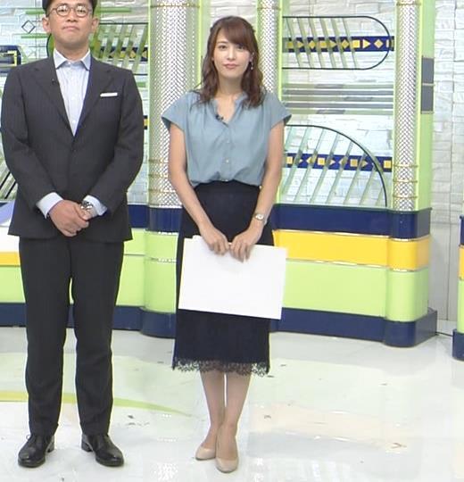 鷲見玲奈アナ 胸元緩いシャツキャプ・エロ画像