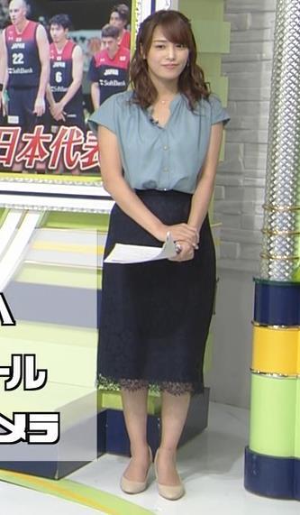 鷲見玲奈アナ 胸元緩いシャツキャプ・エロ画像5