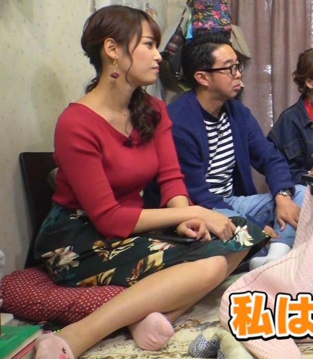 鷲見玲奈アナ 脚とおっぱいがエロいキャプ・エロ画像4