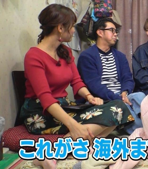 鷲見玲奈アナ 脚とおっぱいがエロいキャプ・エロ画像6