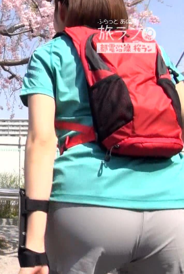 鈴木ちなみ ランニングウェアのプリケツ&ピチピチTシャツおっぱいキャプ・エロ画像14