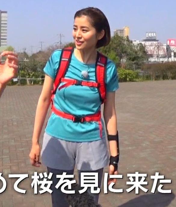 鈴木ちなみ ランニングウェアのプリケツ&ピチピチTシャツおっぱいキャプ・エロ画像10