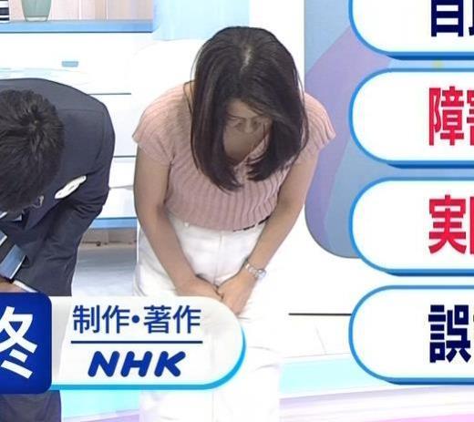鈴木奈穂子 お辞儀でちょっと胸チラキャプ画像(エロ・アイコラ画像)