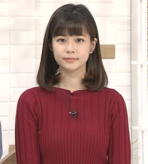 鈴木唯アナ ニットおっぱいキャプ・エロ画像
