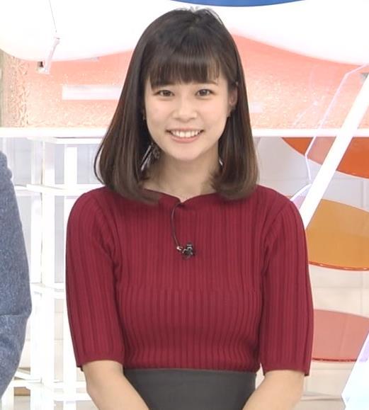 鈴木唯アナ ニットおっぱいキャプ・エロ画像3
