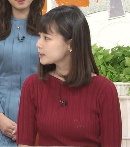 鈴木唯アナ ニットおっぱいキャプ・エロ画像5