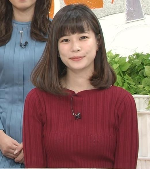 鈴木唯アナ ニットおっぱいキャプ・エロ画像6