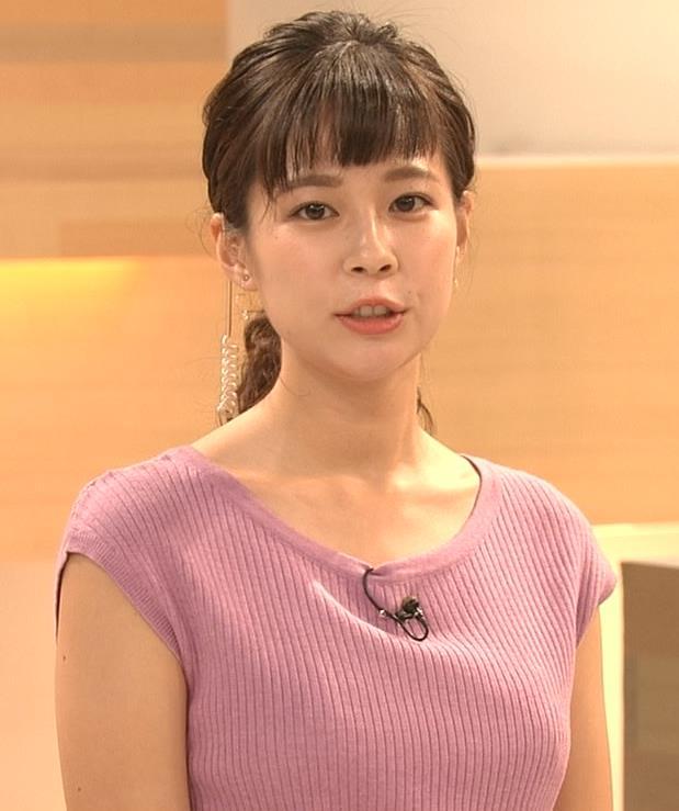 鈴木唯アナ 地味めな女子アナのニット乳キャプ・エロ画像5