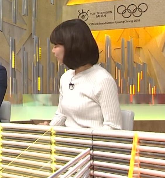 鈴木唯アナ ニット乳がいい感じキャプ・エロ画像