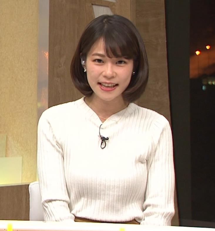 鈴木唯アナ ニット乳がいい感じキャプ・エロ画像3