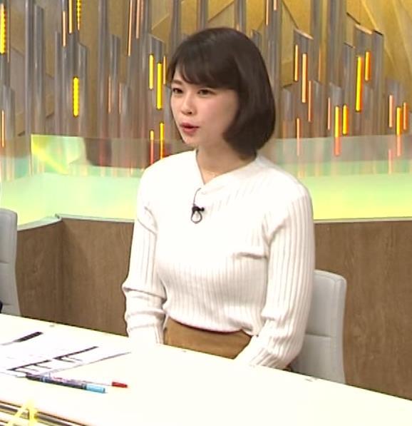 鈴木唯アナ ニット乳がいい感じキャプ・エロ画像7