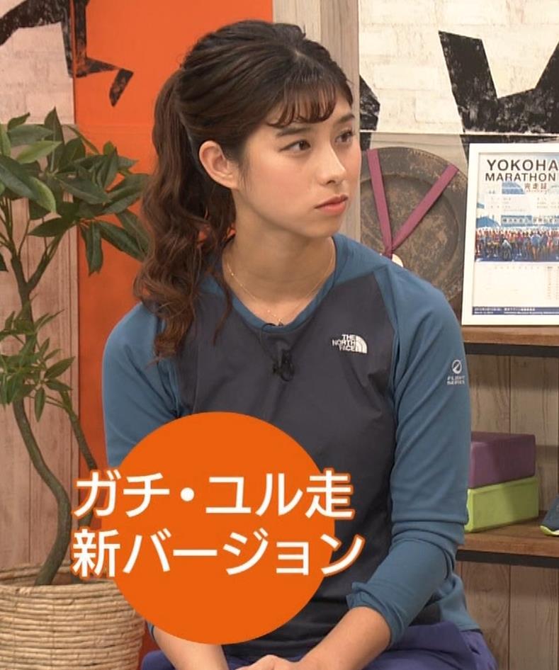 高樹リサ ランニングのTシャツおっぱいキャプ・エロ画像12