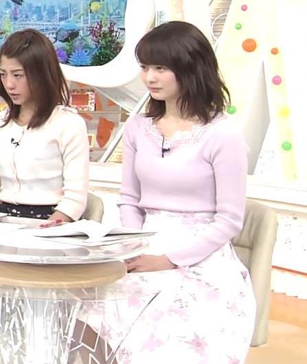 高見侑里 ニット乳キャプ・エロ画像2