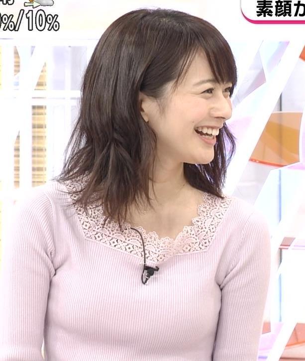 高見侑里 ニット乳キャプ・エロ画像6