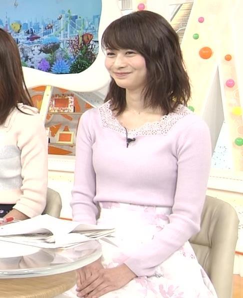 高見侑里 ニット乳キャプ・エロ画像7