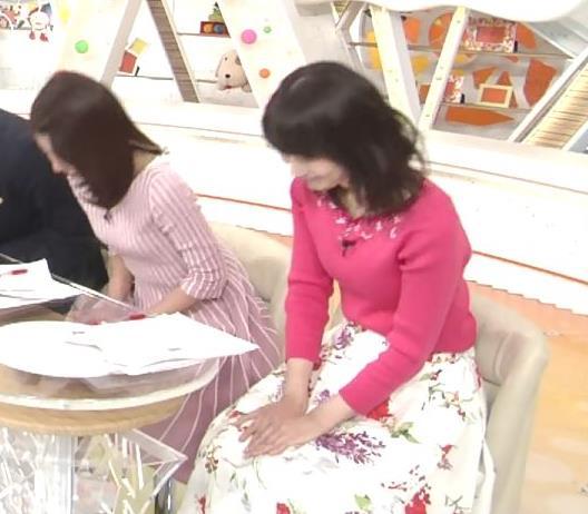 高見侑里 ピンクのニットおっぱい♡キャプ・エロ画像2