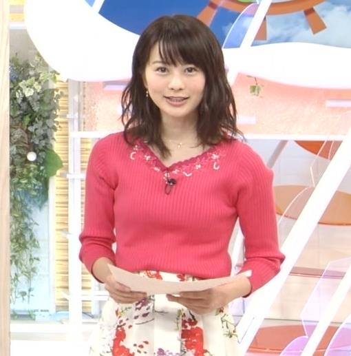 高見侑里 ピンクのニットおっぱい♡キャプ・エロ画像3